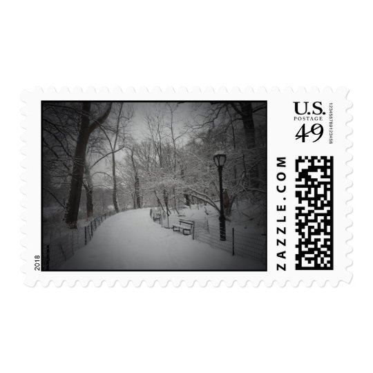 Snowstorm, Central Park, New York City Postage