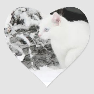 Snowstorm love sticer heart sticker