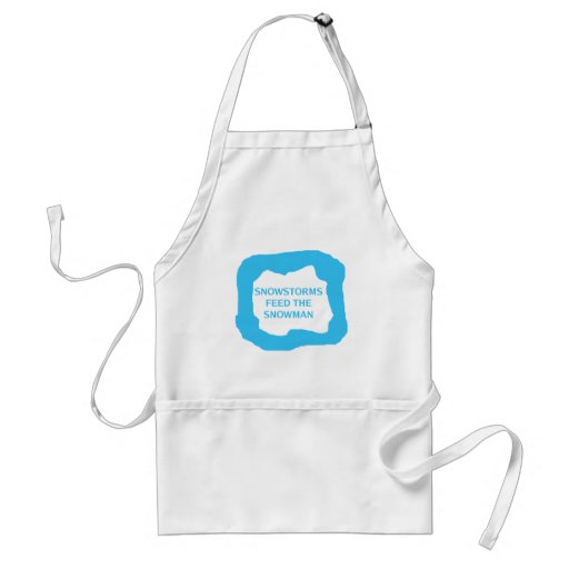Snowstorms feed the snowman .png adult apron