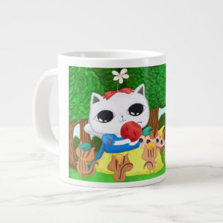 snowwhite and squirrels large coffee mug