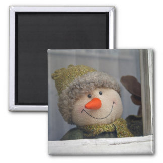 snowy 2 inch square magnet