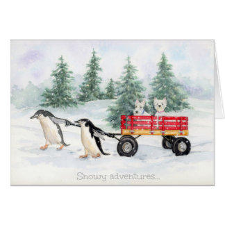Snowy adventures... card
