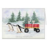 Snowy adventures... greeting card