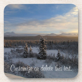 Snowy Afternoon; Customizable Coaster