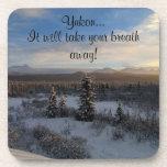 Snowy Afternoon; Yukon Territory Souvenir Coaster