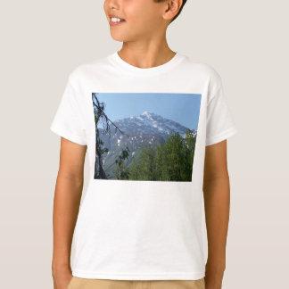 Snowy AK Mountain Kid's White T-Shirt