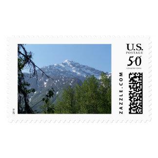 Snowy AK Mountain Postage Stamps (L)