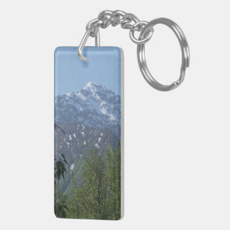 Snowy Alaskan Mountain Key Chain