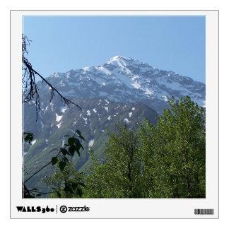 Snowy Alaskan Mountain Wall Decal