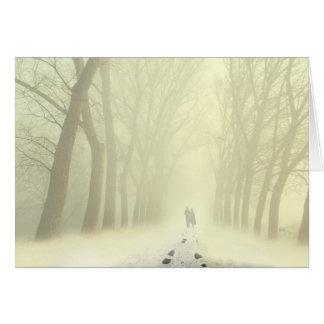 Snowy Alley Card