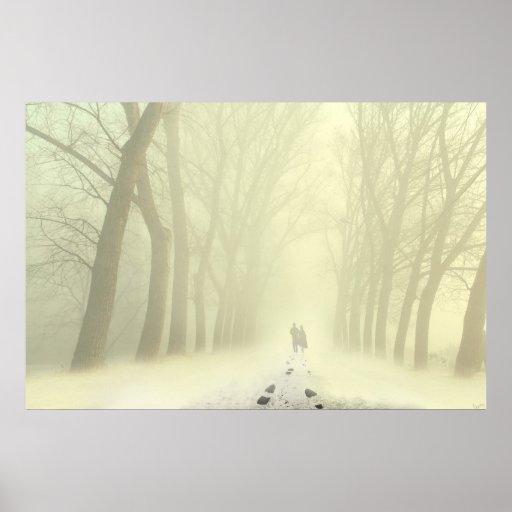 Snowy Alley Print