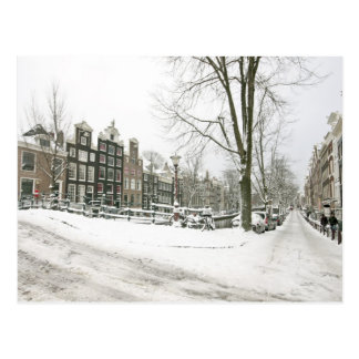 Snowy Amsterdam in the Netherlands Postcard