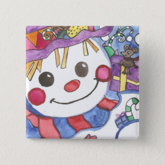 Snowy and friends button