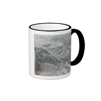 Snowy and hazy central Russia showing the Ob Ri Ringer Mug