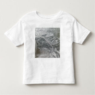 Snowy and hazy central Russia showing the Ob Ri Toddler T-shirt