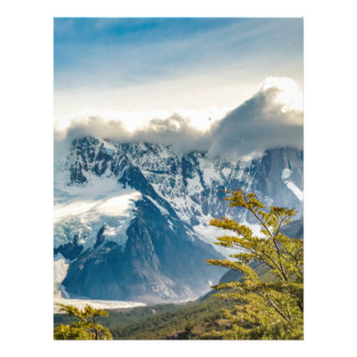 Snowy Andes Mountains, El Chalten Argentina Letterhead
