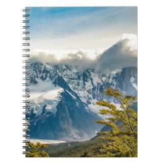 Snowy Andes Mountains, El Chalten Argentina Notebook