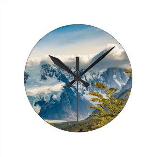 Snowy Andes Mountains, El Chalten Argentina Round Clock