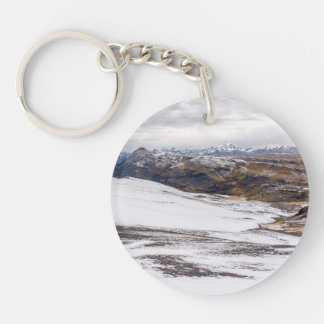 Snowy Andes Mountains Keychain