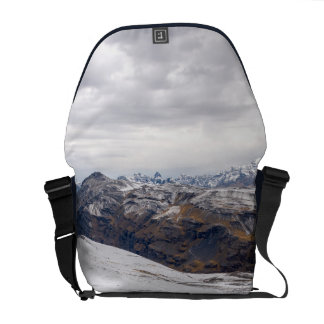 Snowy Andes Mountains Messenger Bag