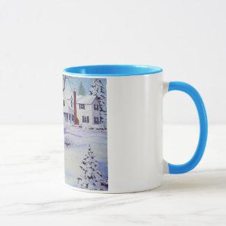 Snowy Back Yard- mug