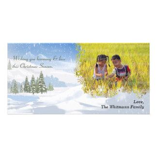 Snowy Banks Holiday Photo Card