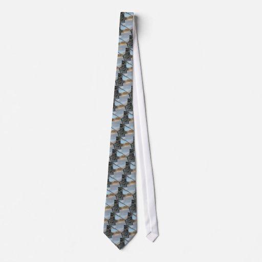 Snowy Barbwire Fence Tie