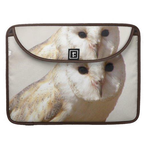 """Snowy Barn Owl  15"""" MacBook Sleeve MacBook Pro Sleeves"""