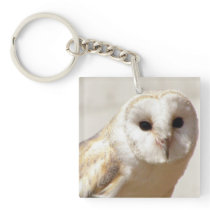 Snowy Barn Owl  Acrylic Keychain