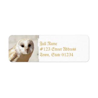 Snowy Barn Owl Address Labels