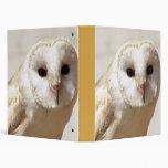 Snowy Barn Owl Binder