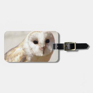 Snowy Barn Owl  Luggage Tag