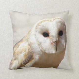 Snowy Barn Owl  Pillow