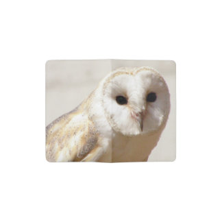 Snowy Barn Owl Pocket Moleskine Notebook Cover With Notebook