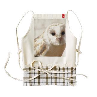 Snowy Barn Owl Zazzle HEART Apron