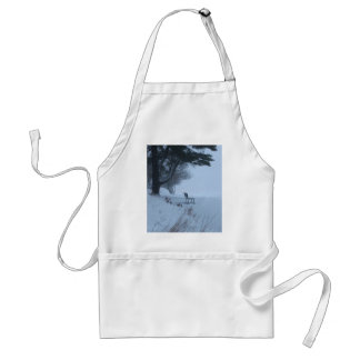 Snowy Bench Aprons