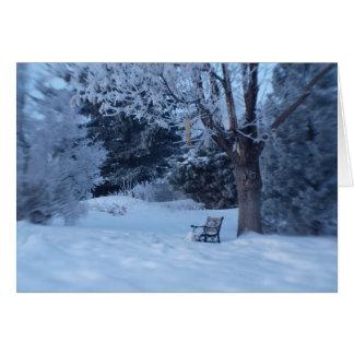 Snowy Bench Card