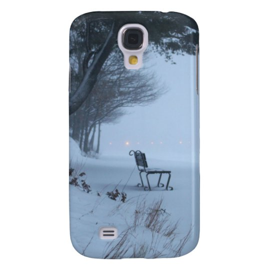 Snowy Bench Galaxy S4 Cover
