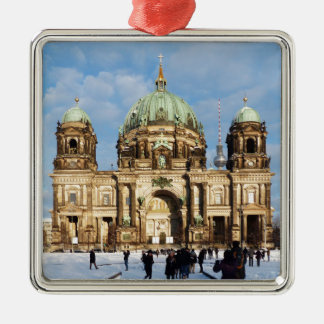 Snowy Berlin Cathedral 001.02.2 Metal Ornament