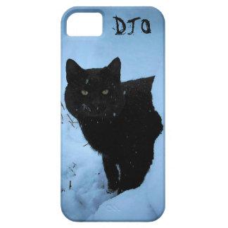 Snowy Black Cat iPhone SE/5/5s Case