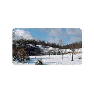 Snowy Blanket Label