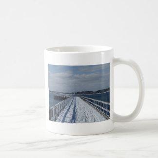 Snowy Boardwalk Classic White Coffee Mug