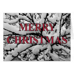 snowy branches christmas card