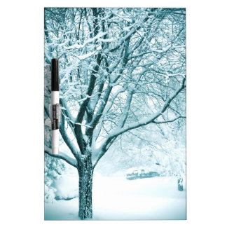 Snowy branches dry erase board