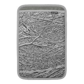 Snowy Branches Macbook Air Sleeve