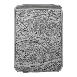 Snowy Branches Macbook Air Sleeves