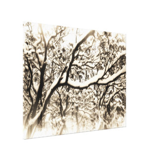 Snowy Branches Wrapped Canvas