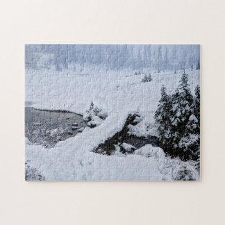 Snowy Bridge at Lake Tipsoo Jigsaw Puzzles