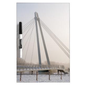 Snowy Bridge Dry-Erase Board
