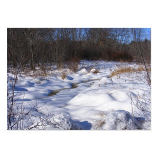 Snowy Brook ~ ATC Large Business Cards (Pack Of 100)